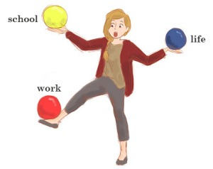 Ways to balance school and work together.